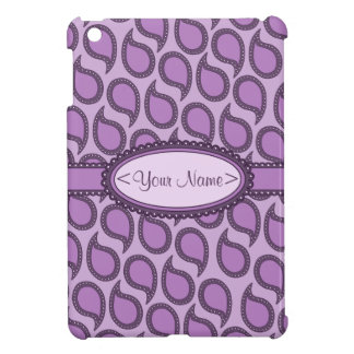 Modern Funky Paisley Pattern in Purples iPad Mini Cover