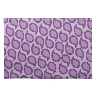 Modern Funky Paisley Pattern in Purples Placemat