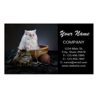 Modern funny cute pet lover business card template