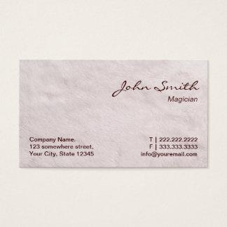 Modern Fur Texture Magician Business Card