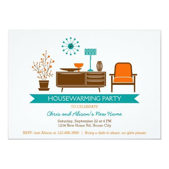 Modern Furniture Housewarming Party Invitation
