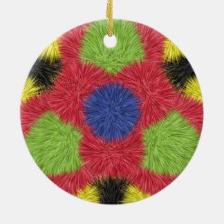 Modern furry brush pattern ornament