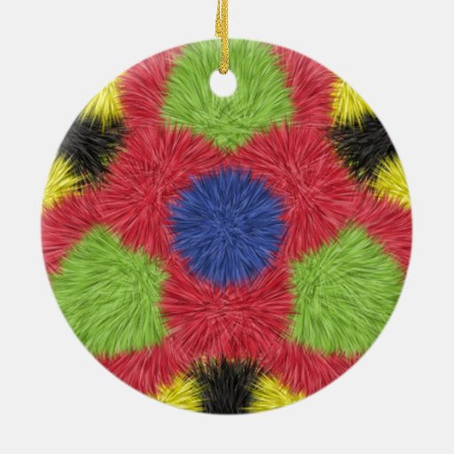 Modern furry brush pattern ornament