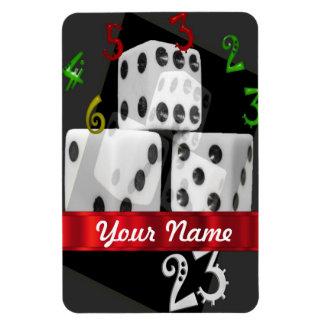 Modern gambling dice rectangle magnets