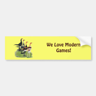 Modern Game Quartet Bumper Sticker