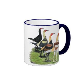 Modern Game Roosters Ringer Mug