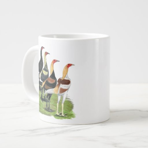Modern Game Roosters Extra Large Mug