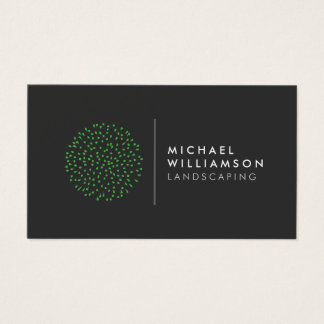 Modern Gardener Landscaping Logo Business Card