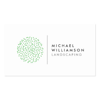 Modern Gardener Landscaping Logo on White Pack Of Standard Business Cards