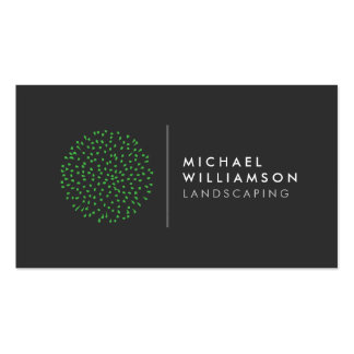 Modern Gardener Landscaping Logo Pack Of Standard Business Cards