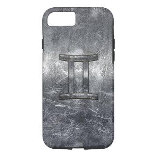 Modern Gemini Zodiac Sign Grunge Distressed Style iPhone 7 Case