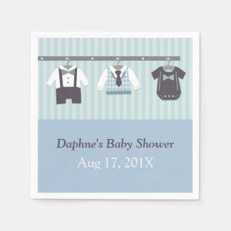 Modern Gentleman Baby Boy Shower Party Supplies Disposable Serviettes