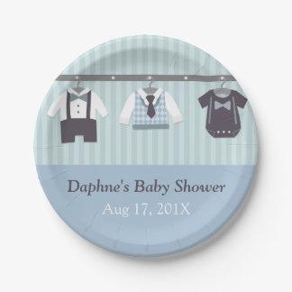Modern Gentleman Baby Boy Shower Party Supplies 7 Inch Paper Plate