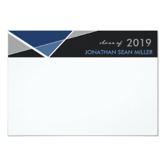 Modern Geo Criss Cross Graduation Thank You Card 9 Cm X 13 Cm Invitation Card