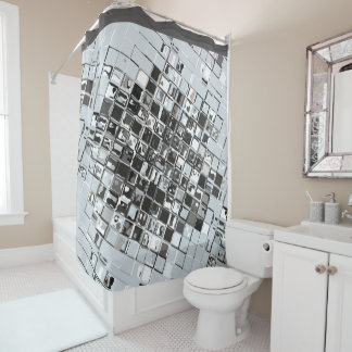 Modern Geometric Abstract Design Shower Curtain