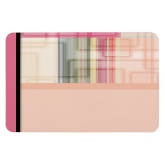 Modern Geometric Abstract Pastel Squares Rectangle Magnet