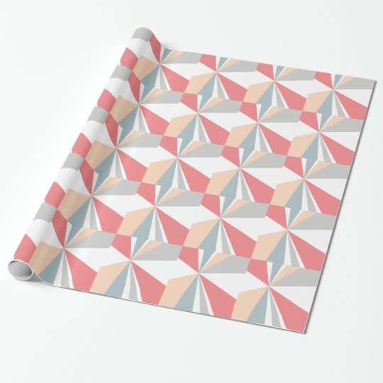 Modern Geometric Art Retro Colour Burst Wrapping Paper