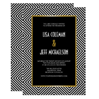 Modern Geometric Black and White Diamond Pattern Card
