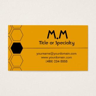 Modern geometric black and yellow business card