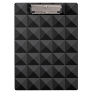 Modern Geometric Black Square Pattern Clipboard