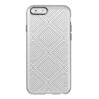 Modern Geometric Black Squares Pattern on White Co Incipio Feather® Shine iPhone 6 Case