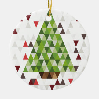 Modern Geometric Christmas Tree Art Christmas Ornament