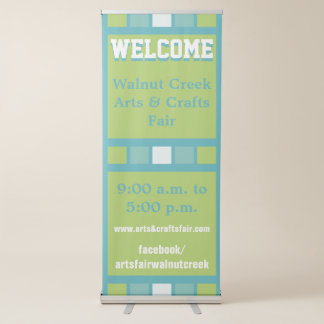 Modern Geometric Colorful Squares Business Banner
