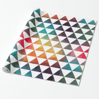 Modern Geometric Colorful Triangles Wrapping Paper