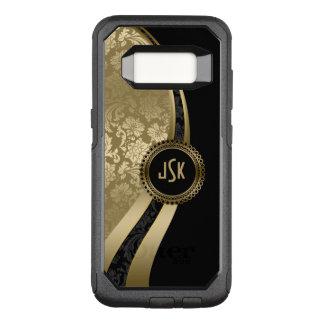 Modern Geometric Design Black & Gold Damasks OtterBox Commuter Samsung Galaxy S8 Case