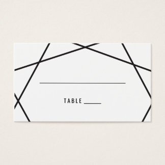 Modern Geometric Escort Card