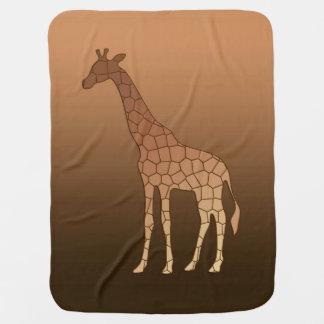 Modern Geometric Giraffe, Copper and Brown Baby Blanket