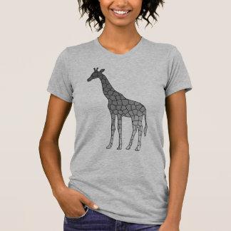 Modern Geometric Giraffe, Silver Gray / Grey T-Shirt