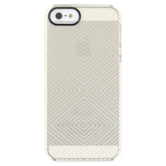 Modern Geometric Gold Squares Pattern on White Col Uncommon Clearly™ Deflector iPhone 5 Case