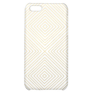 Modern Geometric Gold Squares Pattern on White Col iPhone 5C Cover