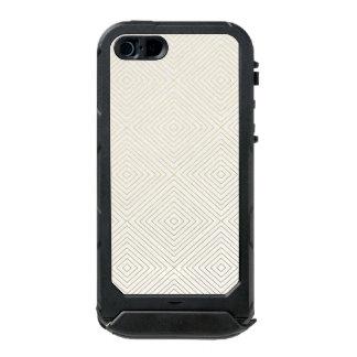 Modern Geometric Gold Squares Pattern on White Col Incipio ATLAS ID™ iPhone 5 Case