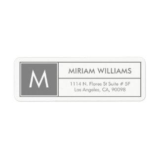 Modern Geometric Gray Frame Custom Monogram