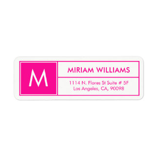 Modern Geometric Hot Pink Frame Custom Monogram