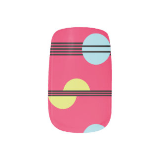 Modern Geometric - Hot Pink - Nail Art