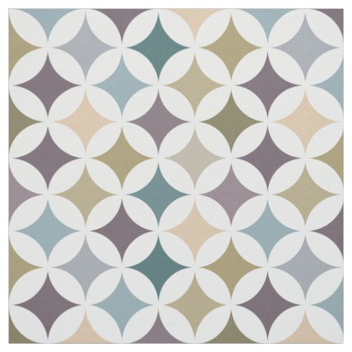 Modern Geometric Hypocycloid Star Pattern Fabric | Zazzle