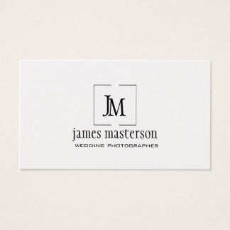 Modern Geometric Logo Monogram Unique Minimalist Business Card