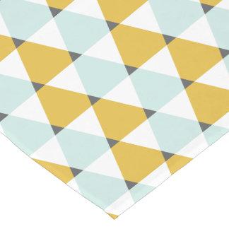 Modern Geometric Mint Yellow Triangles Pattern
