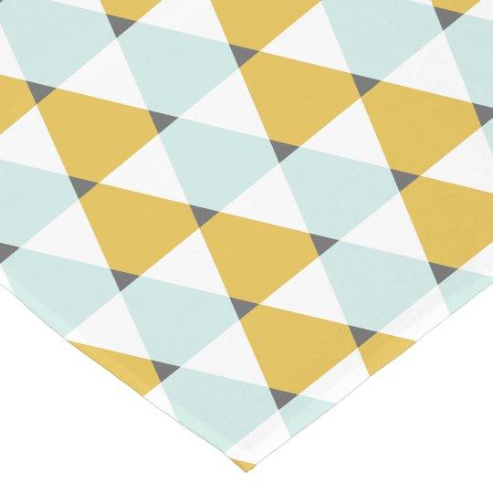 Modern Geometric Mint Yellow Triangles Pattern Short Table