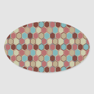 Modern Geometric Oval Sticker