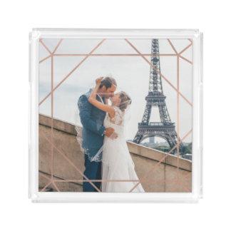 Modern Geometric Overlay on your Photo Acrylic Tray