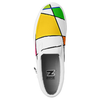 Modern Geometric Pattern Bright Colors Slip-On Shoes
