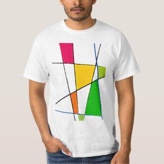 Modern Geometric Pattern Bright Colors T-Shirt