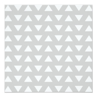 Modern Geometric Pattern in Gray and White. 13 Cm X 13 Cm Square Invitation Card