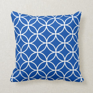 Modern Geometric Pillow in Cobalt Blue