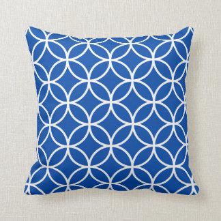 Modern Geometric Pillow in Cobalt Blue