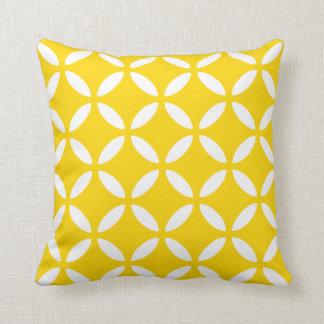 Modern Geometric Pillow in Freesia Yellow Cushions